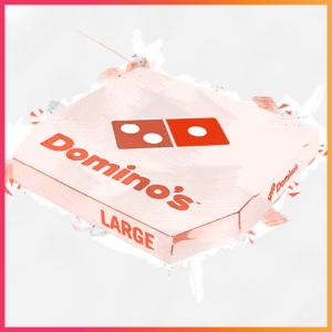 10 Iconic Brands that Evolved their Recipes - Domino's Pizza Illustration